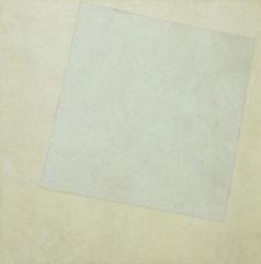 Bu da her şeyi başlatan beyaz üstüne beyaz karemiz. Kazimir Malevich