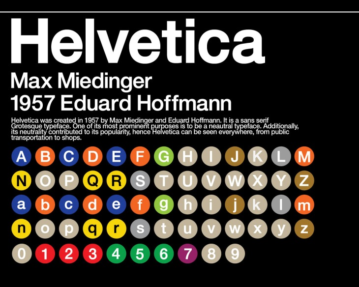 helvetica on NY subway